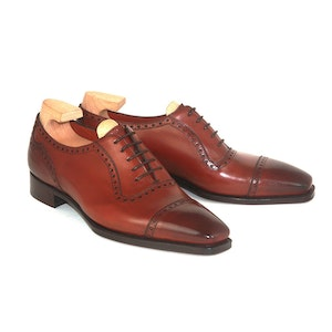 Cherry St James II Vintage Leather Oxfords