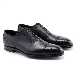 Black Adam Calf Leather Adelaide Brogues