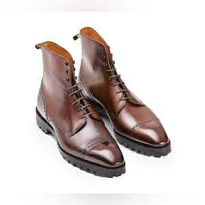 Cedar Brown Calfskin Urban Commando Boot