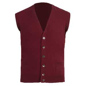 Bordeaux Knitted Cashmere Waistcoat