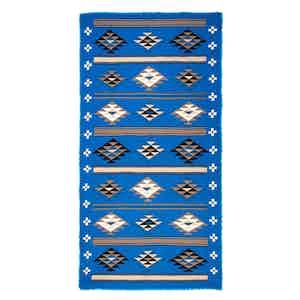 Blue Geometric Cashmere Scarf