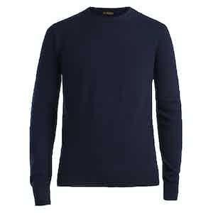 Blue Crew Neck Cashmere Sweater