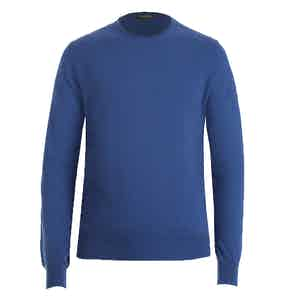 Light Blue Crew Neck Cashmere Sweater
