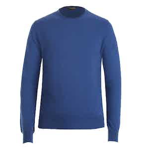 Light Blue Crew Neck Cashmere Sweater