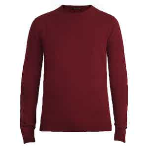 Burgundy Crew Neck Cashmere Sweater