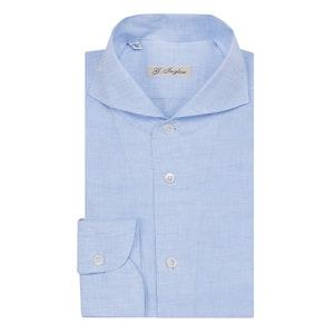 Blue Cervia Collar Linen Shirt