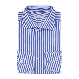 Blue and White Stripe Cotton Shirt