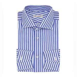 Blue and White Stripe Cotton Shirt