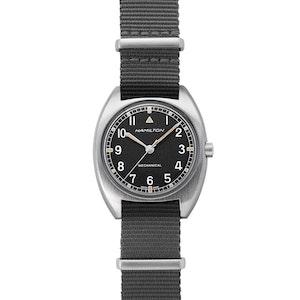Khaki Pilot Pioneer Mechanical Watch With Grey Strap