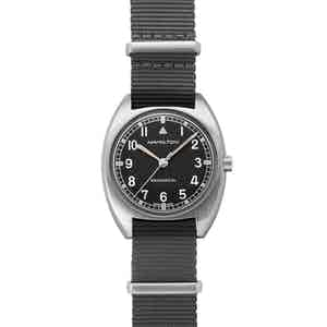 Khaki Pilot Pioneer Mechanical Watch With Grey Strap