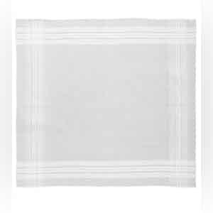 White Classic Cotton Pocket Square