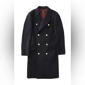 Navy Blue Harlock Double Breasted Coat