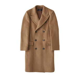 Camel Harlock Double Breasted Coat