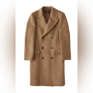 Camel Harlock Double Breasted Coat