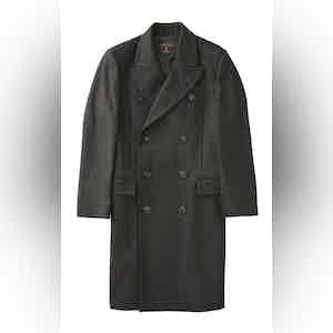 Dark Green Harlock Double Breasted Coat