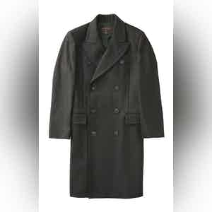 Dark Green Harlock Double Breasted Coat