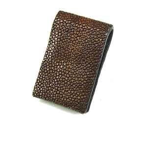 Brown Magnetic Stingray Money Clip