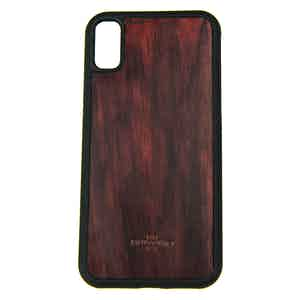 Burgundy Handpainted Leather iPhone X Case