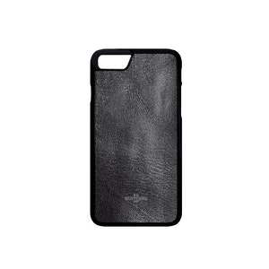 Black Goatskin Leather iPhone 8 Case