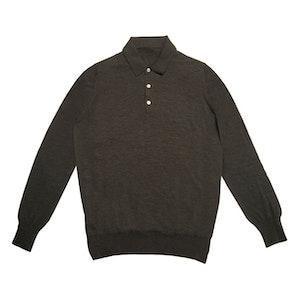 Charcoal Lightweight Merino Polo Shirt