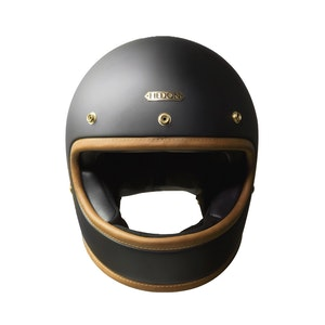 Black Classic Stable Full Face Motorcycle Helmet
