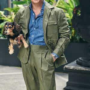 Green Loro Piana Cotton Sport Trousers
