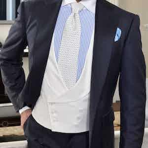 White Loro Piana Wool Double-Breasted Waistcoat