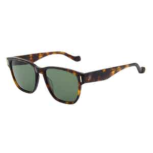 Tortoiseshell Acetate Jeremy Hackett Signature Collection Sunglasses