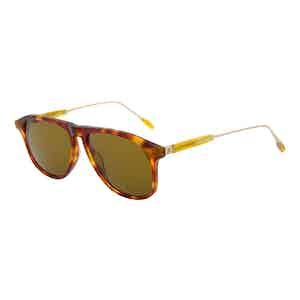 Honey Tortoiseshell Acetate Jeremy Hackett Signature Collection Sunglasses