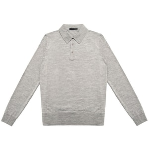Grey Lightweight Merino Polo Shirt