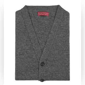 Grey Chelsea Knitted Cashmere Waistcoat