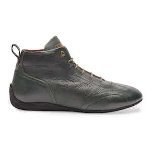 Green Leather Iconic Medium Driving Shoe