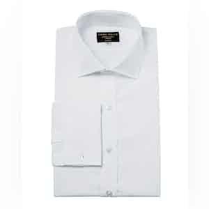 White Genio Cotton Cutaway Collar Shirt