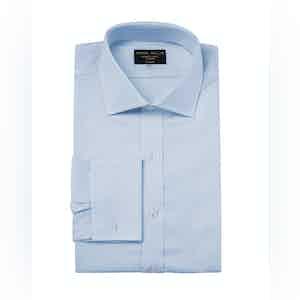 Sky Blue Genio Cotton Cutaway Collar Shirt