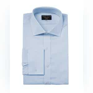 Sky Blue Genio Cotton Cutaway Collar Shirt