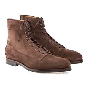 Brown Kerouac Suede Balmoral Boots