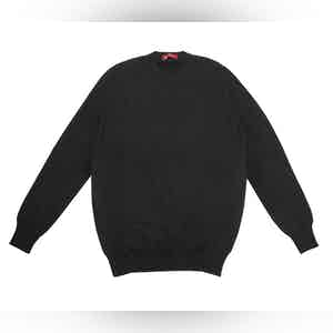 Black Cashmere Crew Neck Sweater