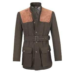 Chocolate Brown Wool Norfolk Jacket