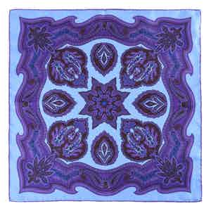Blue Liquorice Chianti Silk Pocket Square