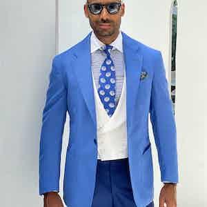 Light Blue Loro Piana Wool Sport Jacket