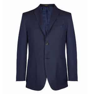 Navy Wool Lined Blazer