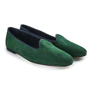 Emerald Suede Slipper
