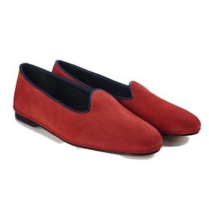 Red Suede Slipper