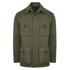 Lovat Green Cotton Drill Travel Jacket