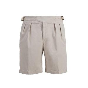 Beige Manny Cotton Shorts