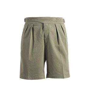 Olive Manny Cotton Shorts