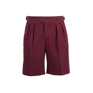 Red Manny Cotton Shorts