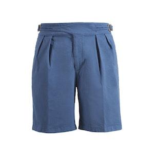 Light Blue Manny Cotton Shorts