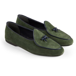 Green Marphy Suede Loafers
