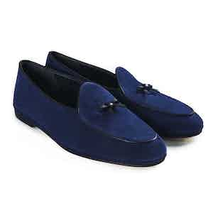 Electric Blue Marphy Suede Loafers